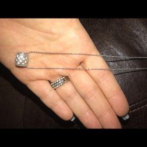 Lia Sophia silver barrel necklace